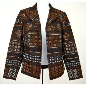 COLDWATER CREEK Equestrian Beads Embroidery JACKET